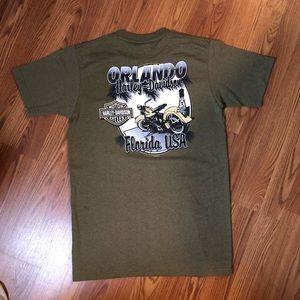vtg like new Harley Davidson Orlando FL graphic t